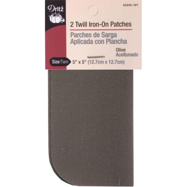 "Iron-On Patches 5""X5"" 2/Pkg"