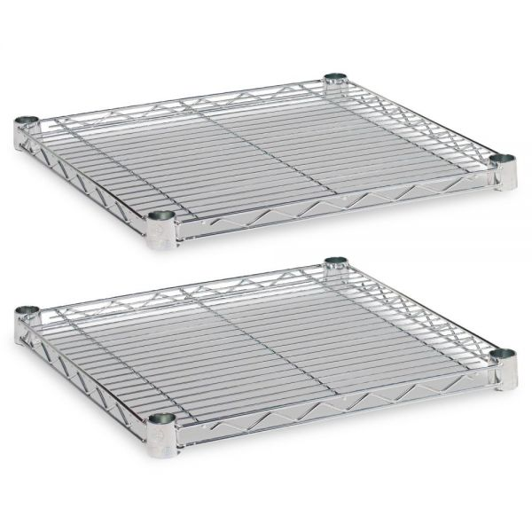 Alera Industrial Wire Shelving Extra Wire Shelves, 18w x 18d, Silver, 2 Shelves/Carton