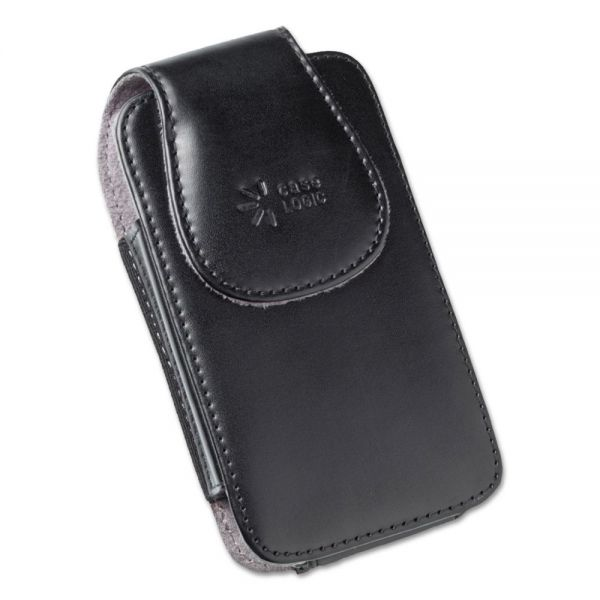 Case Logic Vertical Pouch for Belt, Leather, Black