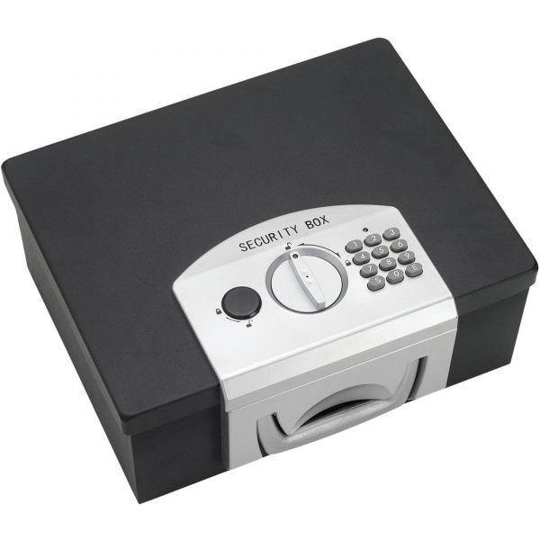 MMF Industries Electronic Cash Box, 12-7/8 x 10-1/8 x 5, Combination Lock, Black