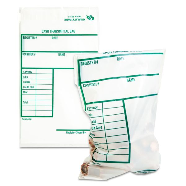 Quality Park Cash Transmittal Bags w/Redi-Strip