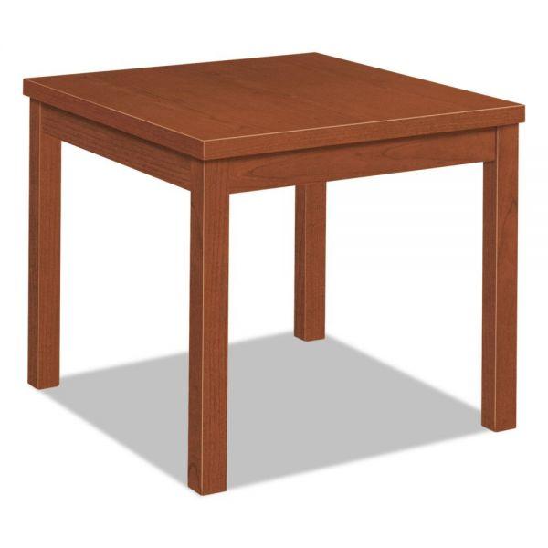 HON Laminate Occasional Table, Square, 24w x 24d x 20h, Cognac