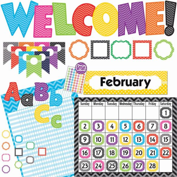 Teacher Created Resources Chevon Accents Board Set