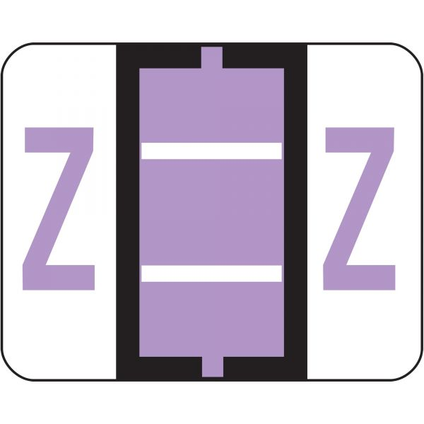 Smead BCCR Bar-Style Color-Coded Alphabetic Label - Z