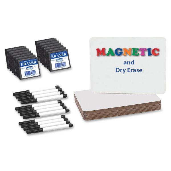Flipside Magnetic Dry Erase Brd Set Class Pk
