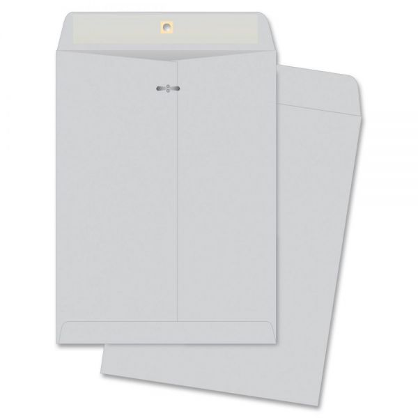 "Business Source Gummed 10"" x 13"" Clasp Envelopes"