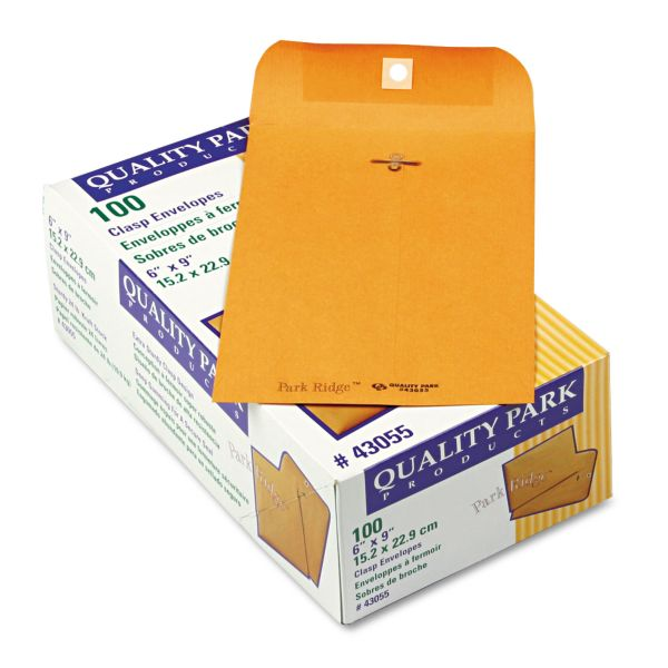 "Quality Park Gummed 6"" x 9"" Clasp Envelopes"