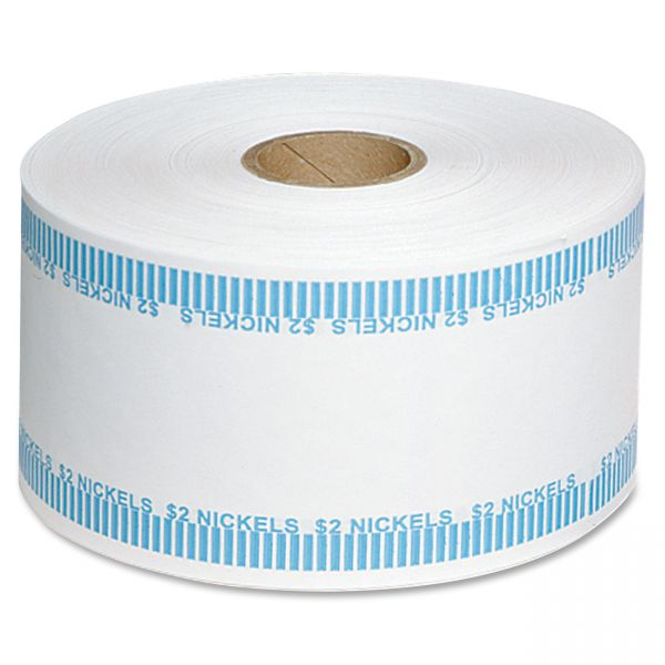 MMF Industries Automatic Coin Flat Wrapper Rolls, Nickels, $2, 1,900 Wrappers per Roll