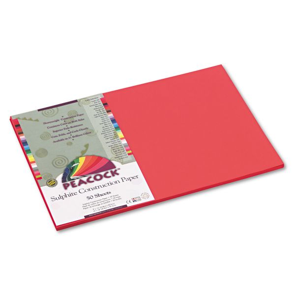 Peacock Sulphite Red Construction Paper