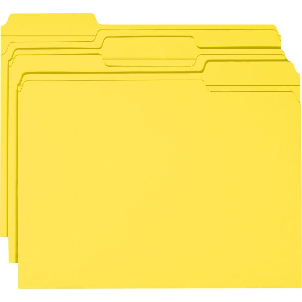 Smead Yellow Colored File Folders with Reinforced Tab