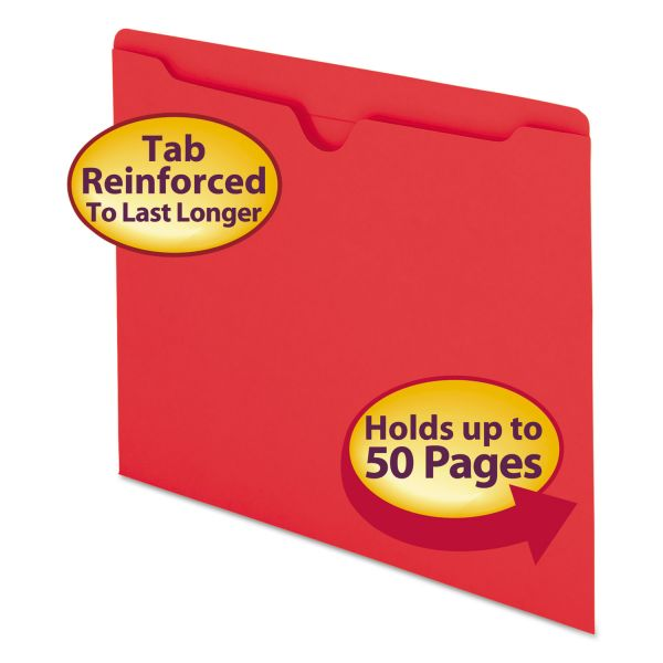 Smead 75509 Red Colored File Jackets
