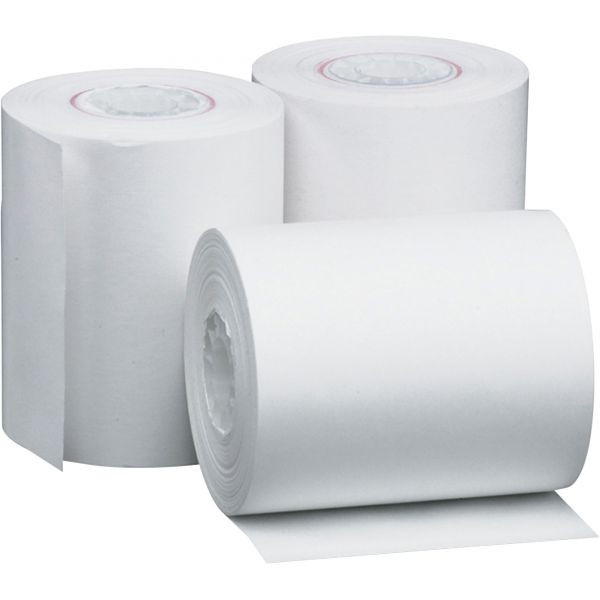 """PM Company Single Ply Thermal Cash Register/POS Rolls, 2 1/4"""" x 80 ft., White, 50/CT"""