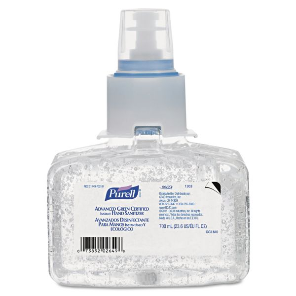 Purell Advanced Green Certified Instant Gel Hand Sanitizer Refills