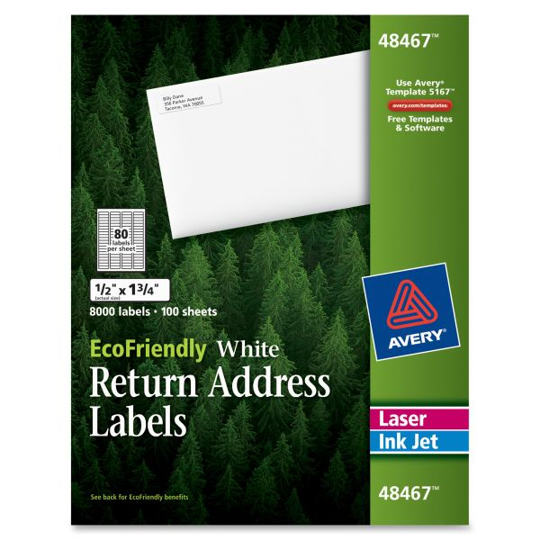 Avery 48467 EcoFriendly Return Address Labels