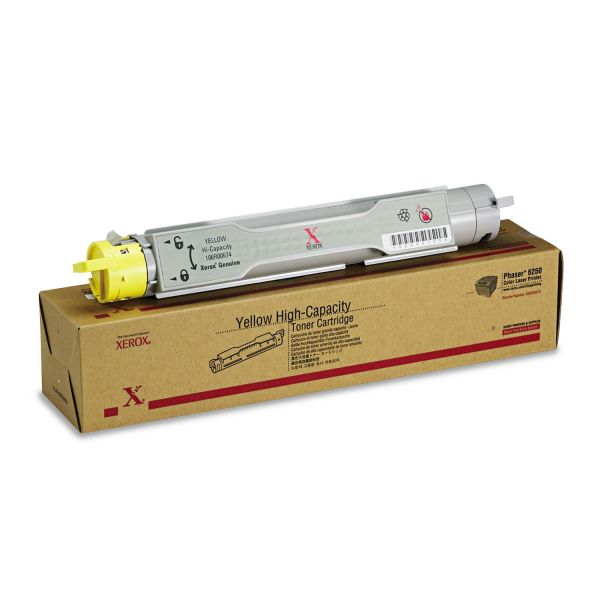 Xerox 106R00674 High-Yield Toner, 8000 Page-Yield, Yellow