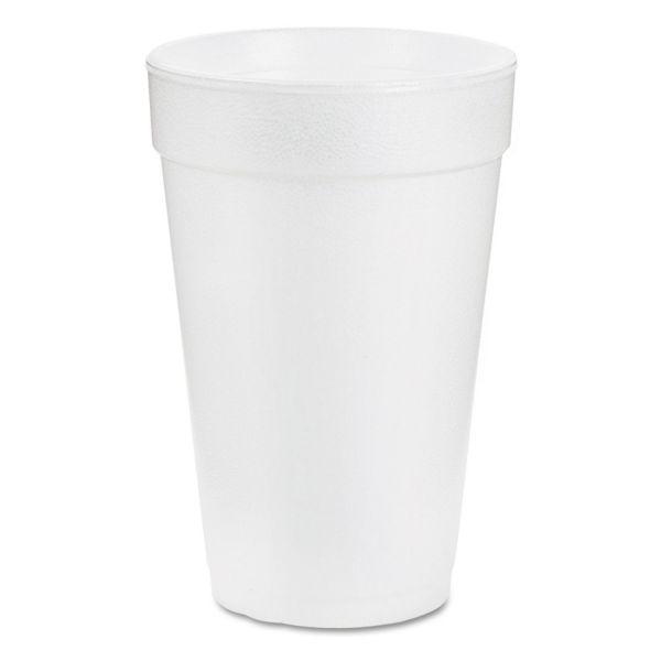 Dart Foam Drink Drink, 14oz, White, 1000/Carton