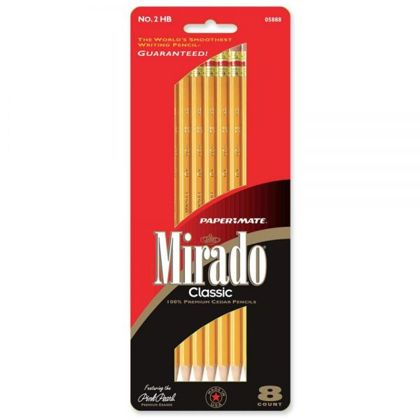 Paper Mate Mirado Classic No. 2 Woodcase Pencils