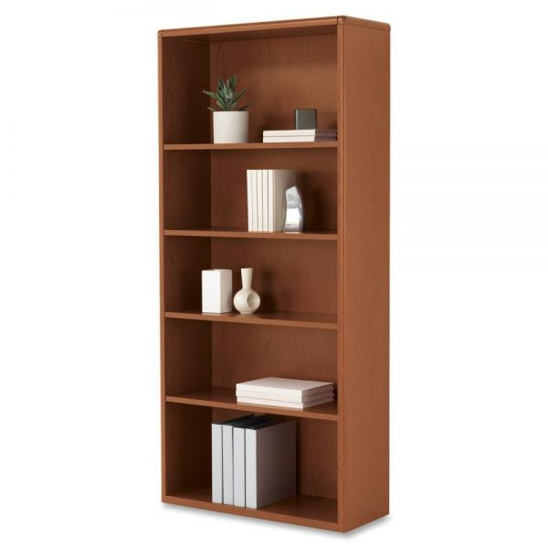 HON 10700 Series Adjustable 5-Shelf Laminate Bookcase