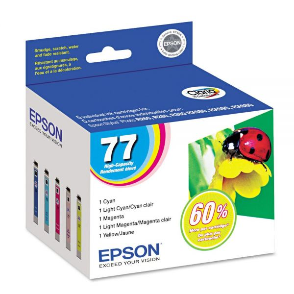 Epson 77 Color High Yield Combo Pack Ink Cartridges
