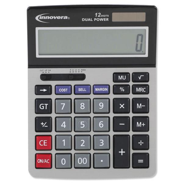 Innovera 15968 Minidesk Calculator, 12-Digit LCD