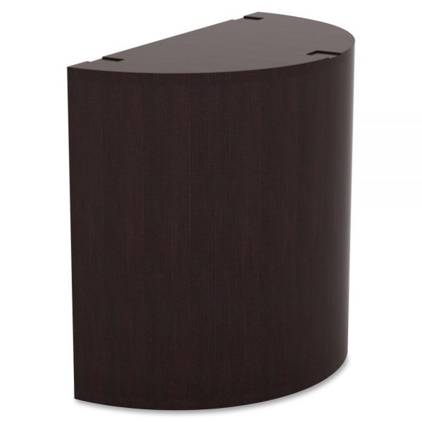 Lorell Prominence Espresso Laminate Curved Table Base