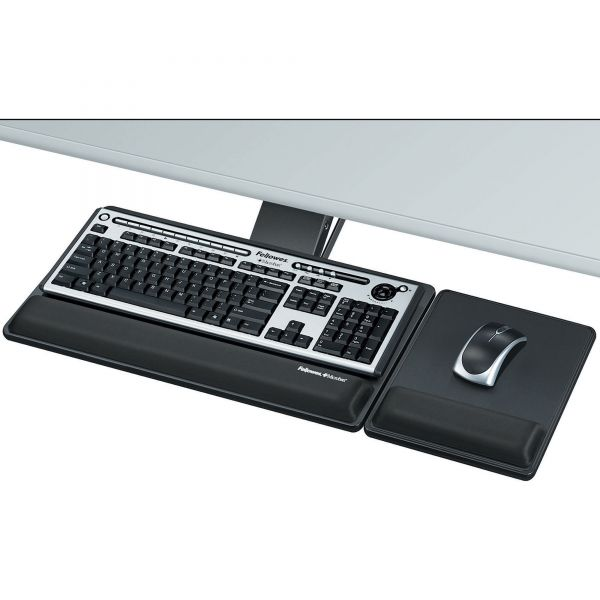 Fellowes Designer Suites Premium Keyboard Tray, 19w x 10-5/8d, Black