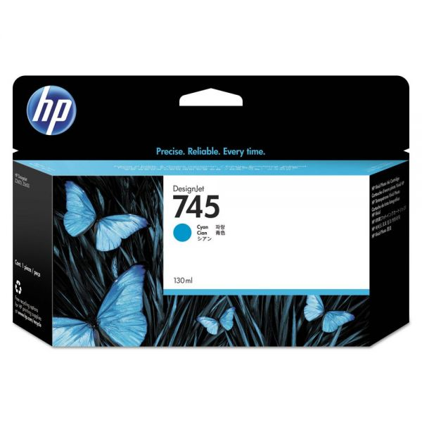 HP 745 Cyan Ink Cartridge (F9J97A)