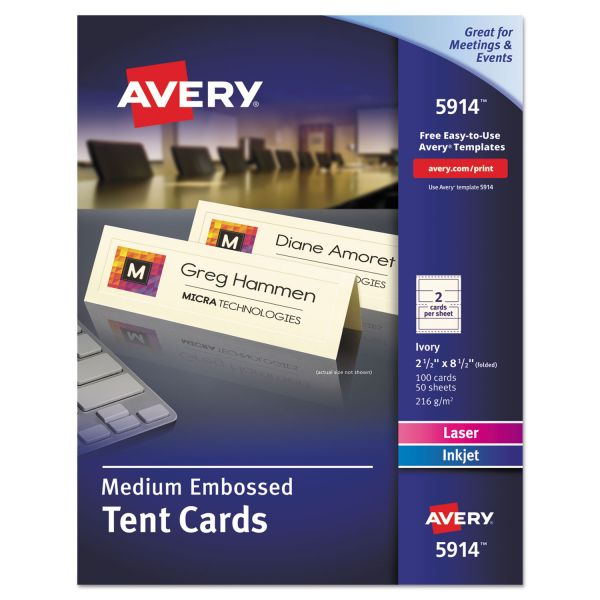 Avery 5914 Medium Embossed Tent Cards