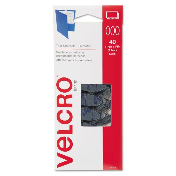 Velcro Oval Hook and Loop Fasteners, 7 1/4 x 3, Black, 40/Pack