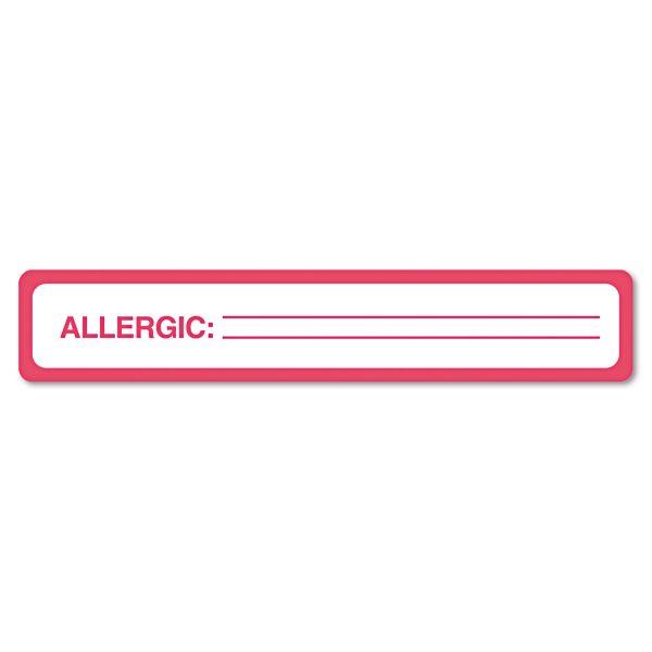 Tabbies Allergy Label