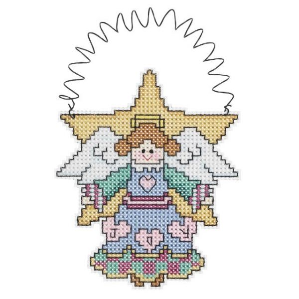 Holiday Wizzers Angel Counted Cross Stitch Kit