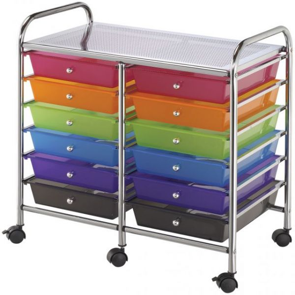 Blue Hills Studio Double Storage Cart
