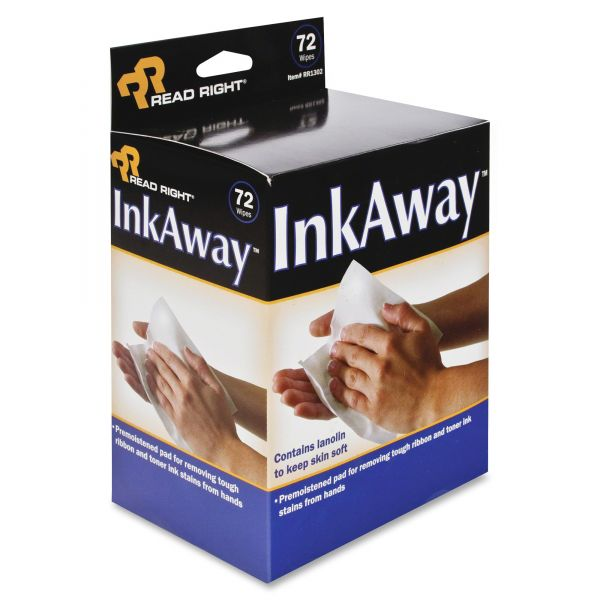 Read Right Ink Away Hand Cleaning Pads