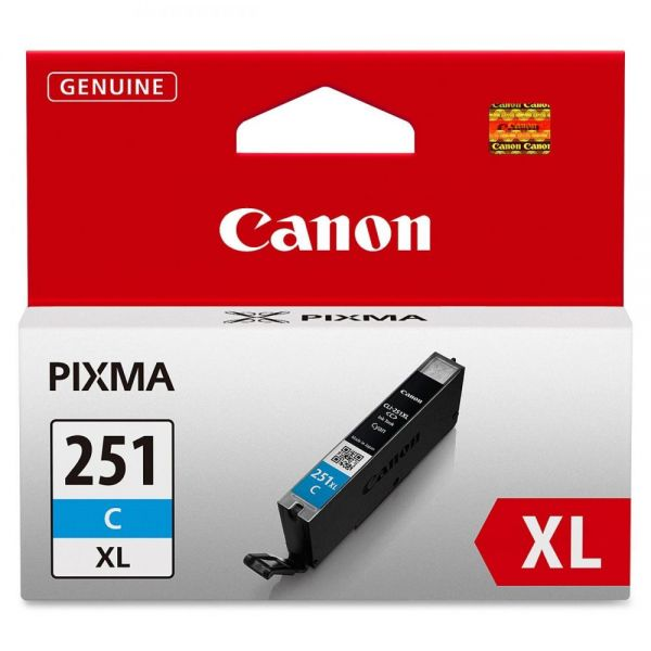 Canon CLI-251XLC Cyan High Yield Ink Cartridge (6449B001)