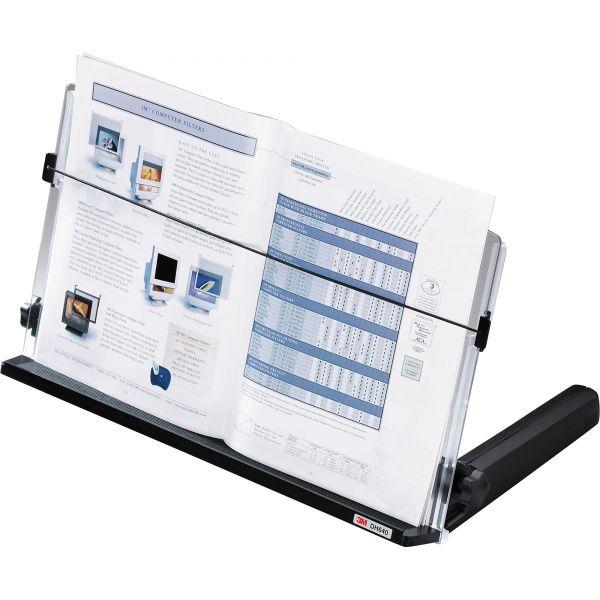 3M In-Line Freestanding Copyholder, Plastic, 300 Sheet Capacity, Black/Clear