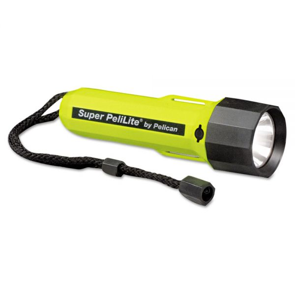 Pelican PeliLite 1800 Flashlight, 2 C, Yellow/Black