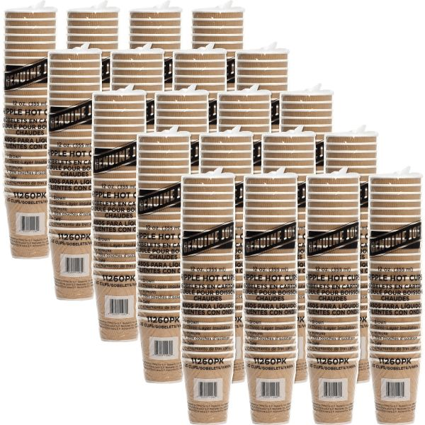 Genuine Joe Ripple 12 oz Coffee Cups