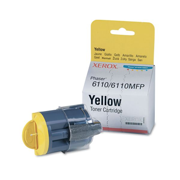 Xerox 106R01273 Toner Cartridge, 1000 Page-Yield, Yellow
