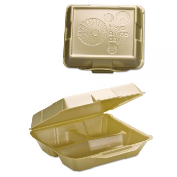 Genpak Takeout Foam Clamshell Food Containers