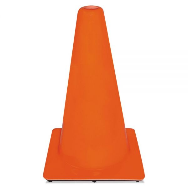 3M Non-Reflective Safety Cone, 11 x 11 x 18, Orange