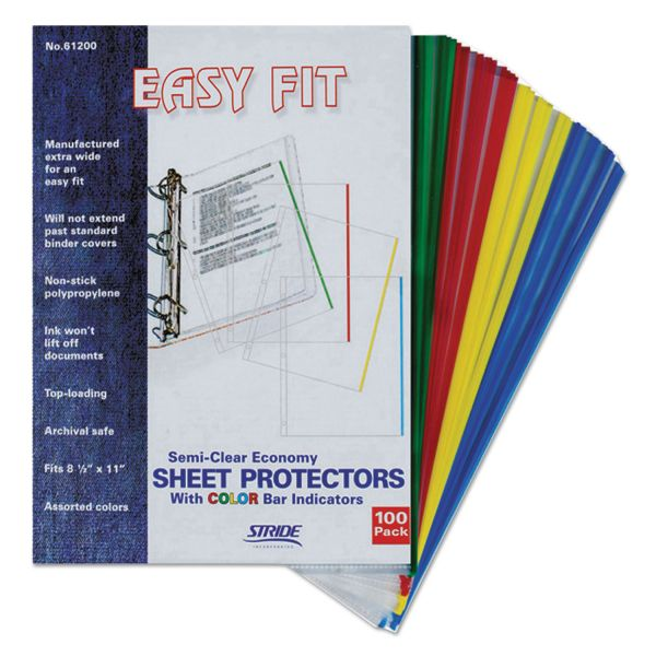 Stride Easy Fit Top Loading Color Coding Sheet Protectors