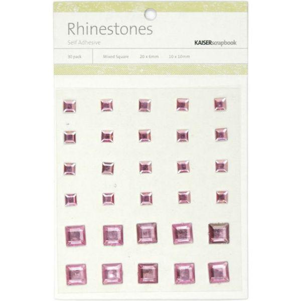 Self-Adhesive Square Rhinestones