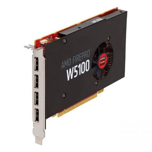 AMD FirePro W5100 Graphic Card - 4 GB GDDR5 - PCI Express 3.0 x16 - Half-length/Full-height - Single Slot Space Required