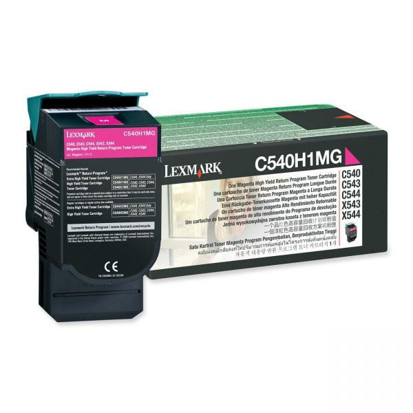 Lexmark C540H1MG Magenta High Yield Return Program Toner Cartridge