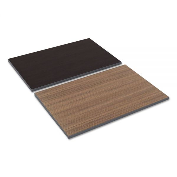Alera Reversible Laminate Table Top, Rectangular, 35 3/8w x 23 5/8d, Espresso/Walnut