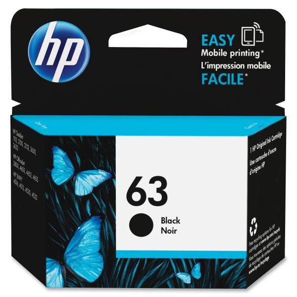 HP 63  Black Ink Cartridge (F6U62AN)