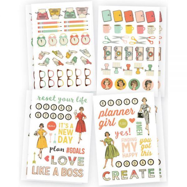 "Reset Girl Stickers 4""X6"" 8/Pkg"