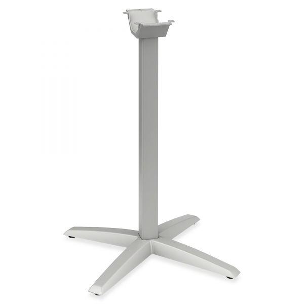 HON Aluminum Standing-Height X-Leg Base, 26-3/4w x 26-3/4d x 40-7/8h, Platinum