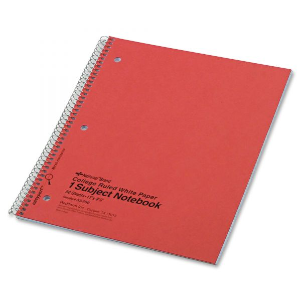 Rediform National Kolor-Kraft 1-Subject Notebook