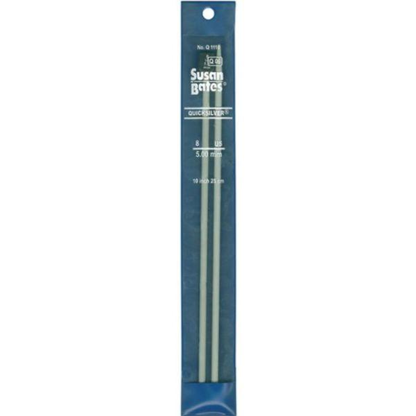 "Quicksilver Single Point Knitting Needles 10"""